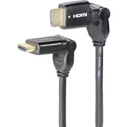 HDMI Anslutningskabel SpeaKa Professional 986642 [1x HDMI hane - 1x HDMI hane] 3 m Svart