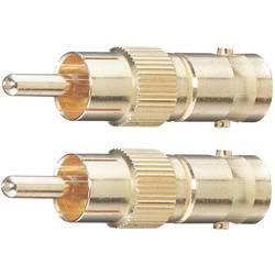 BNC/Činč adapter Oehlbach [1x Činč-vtič   1x BNC-vtičnica], pozlačeni konektorji, 2 kosa, 8606