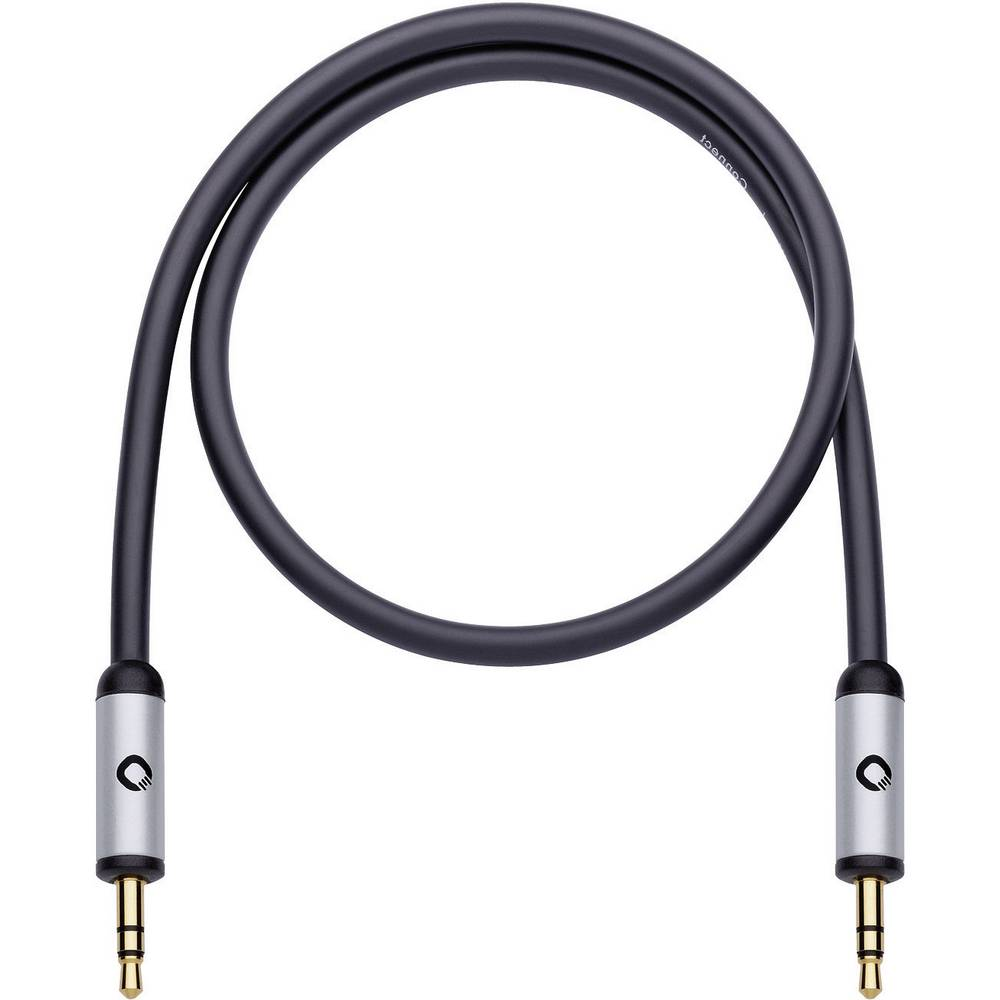 Priključni kabel Oehlbach iConnect, 3,5 mm m. banana kon./3,5 mm m. banana k., črn, 0,5 m 60011