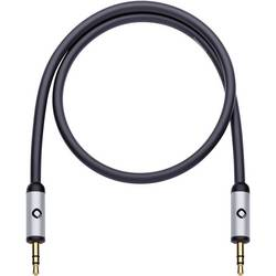 Klinken avdio priključni kabel [1x klinken vtič 3.5 mm - 1x klinken vtič 3.5 mm] 5 m črne barve, pozlačeni vtični kontakti