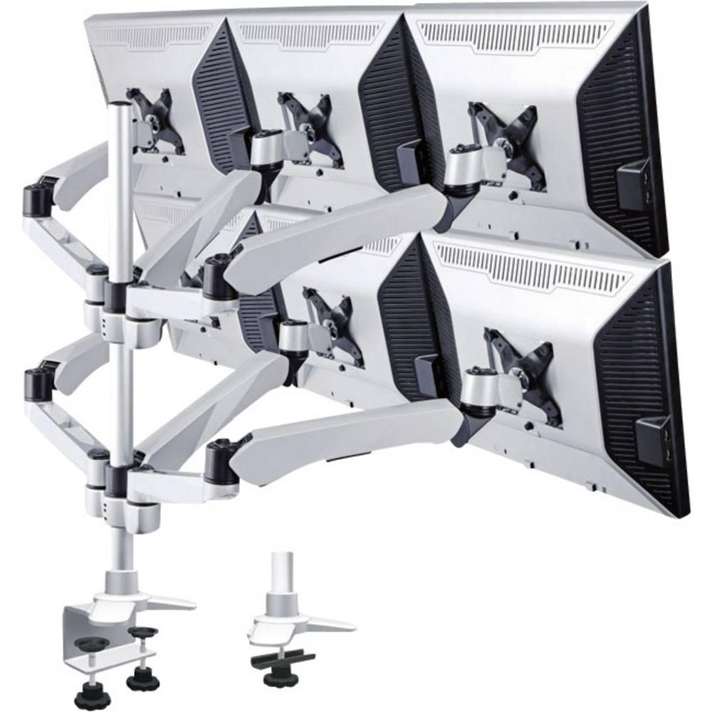 Xergo Flex šesterostruki stalak za ekrane, montaža na stol tehnikom plinskog tlaka žlijebnom i C-spojnicom