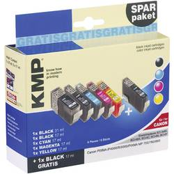 Bläckpatron Value Pack Kompatibel KMP C16V Ersätter Canon BCI-3, BCI-6 Kombi-pack Svart, Foto svart, Cyan, Magenta, Gul
