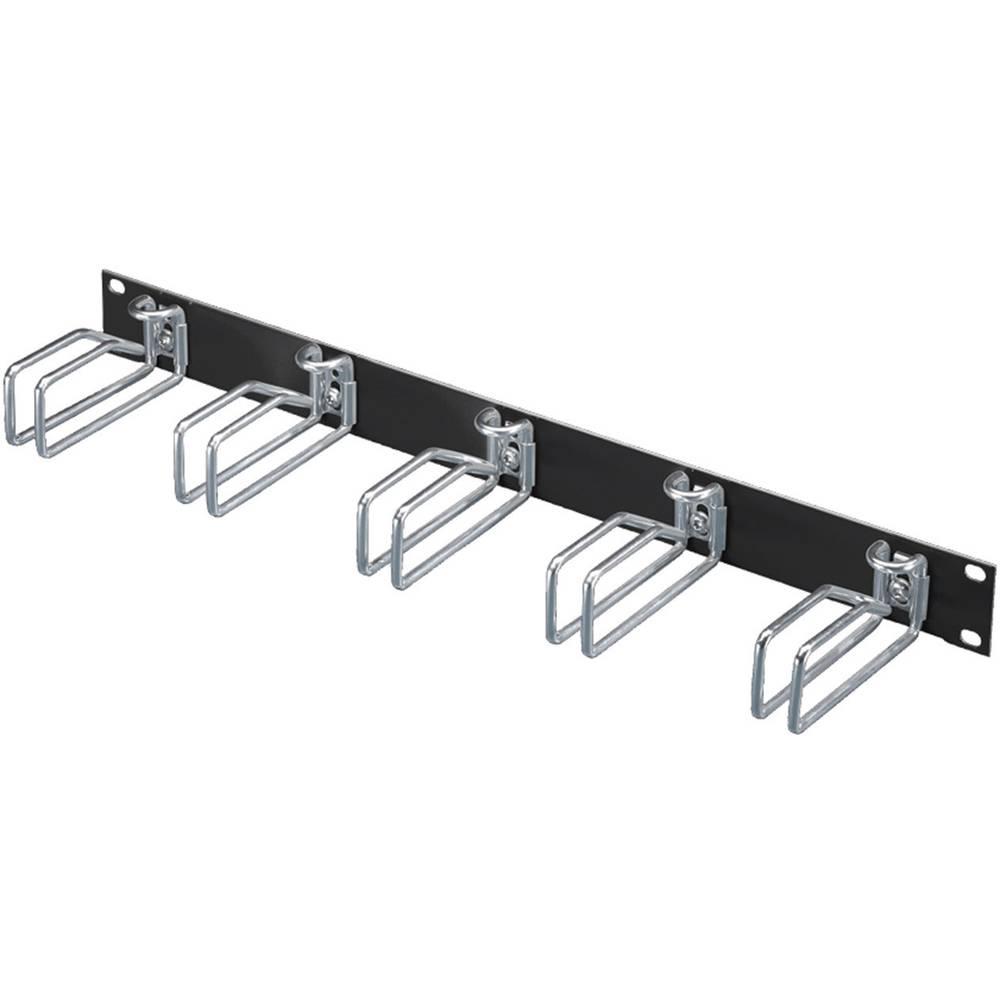 19 upravljanje kabelima za mrežni ormar 1 HE Rittal 5502.205 crne boje