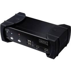 2-portni DVI-Audio-USB-KVM Switch uređaj DIGITUS, s integriranim USB 2.0 hubom