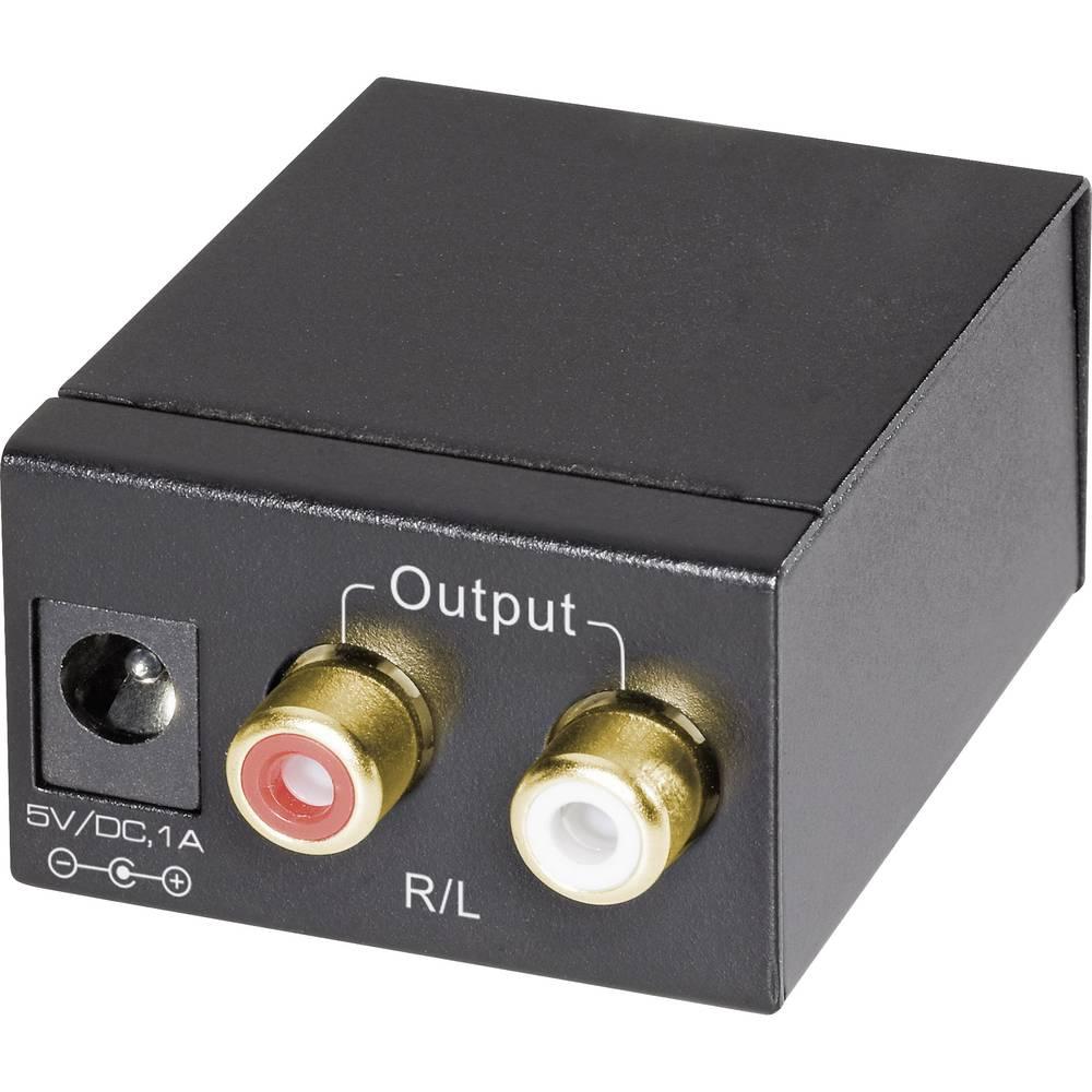 Digitalno-analogni avdio pretvornik SpeaKa, 1 x SPDIF, 1 x koaksialni, 2 x cinch SpeaKa Professional