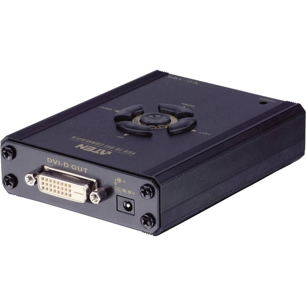 VGA/DVI pretvornik ATEN [1x VGA-utikač <=> 1x DVI-utičnica 24+1pol.] crn, VC160-AT-G