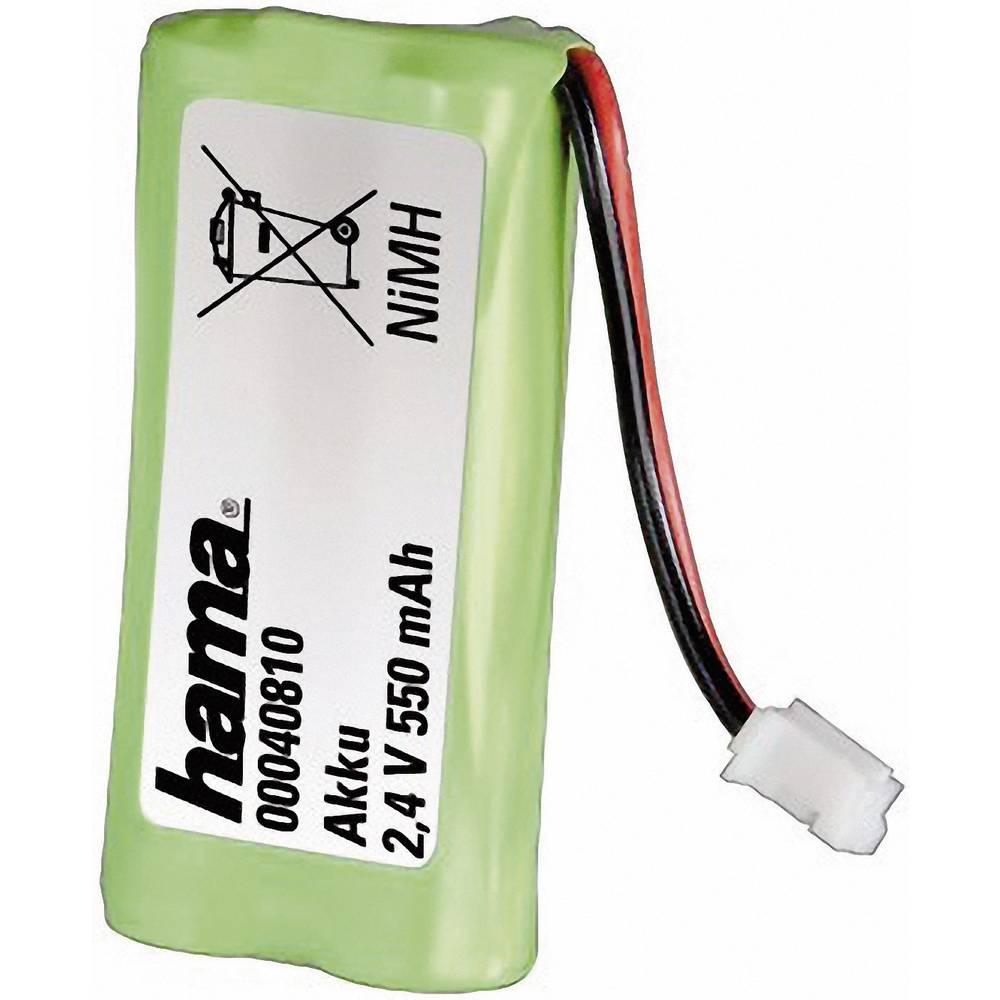 Baterija za bežični telefon Hama 40810 za marke: Siemens, Gigaset, Universum NiMH 2.4 V 550 mAh