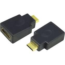 HDMI Adapter LogiLink AH0009 [1x HDMI hane C Mini - 1x HDMI hona] Svart guldpläterad kontakt
