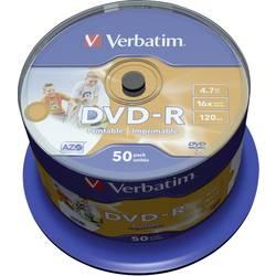 DVD-R prazni Verbatim 43533 4.7 GB 50 kom. okrugla kutija ispisiv