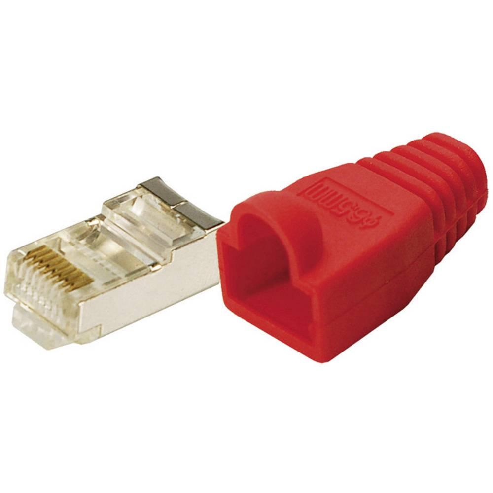 LOGILINK vtič CAT 5E PROTECT rdeč(100) MP0016