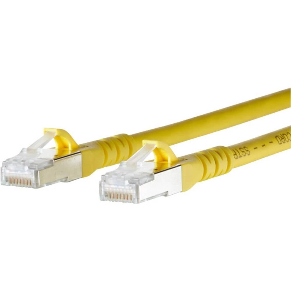 RJ45 mrežni kabel CAT 6A S/FTP [1x RJ45 utikač - 1x RJ45 utikač] 1.50 m žuti zaštićeni, BTR Netcom 1308451577-E