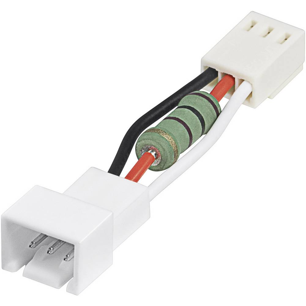 Adapter za PC ventilator [1x utikač za PC ventilator 3pol. - 1x utikač za PC ventilator 3pol.] 6 cm bijeli Goobay