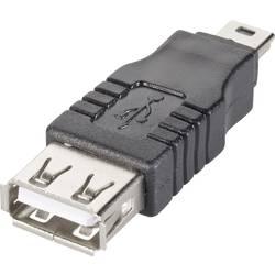 USB-adapter, moški konektor USB 2.0 tipa Mini B/ženski konektor USB 2.0 tipa A, črne barve Goobay