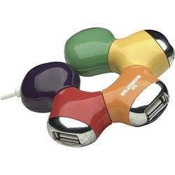 USB 2.0-Hub Manhattan 4 Port Flerfärgad