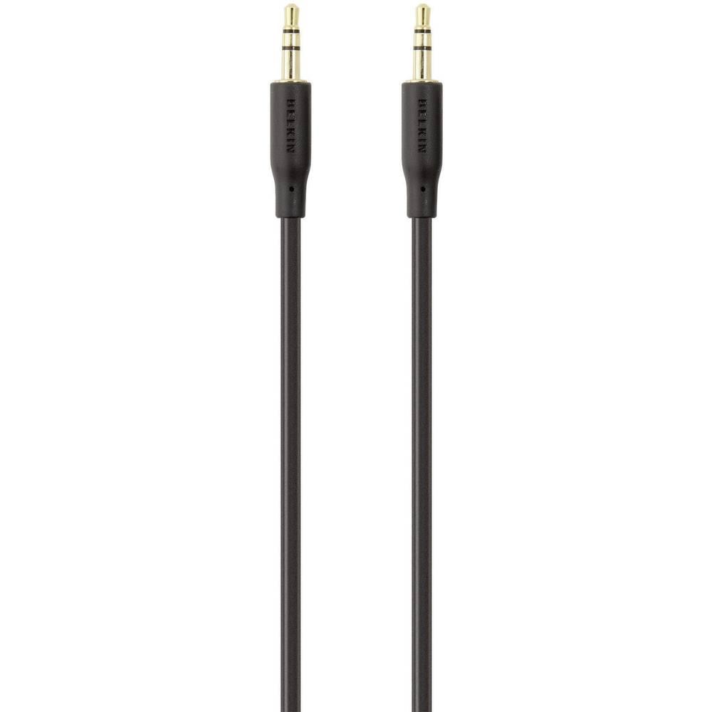 Klinken avdio priključni kabel [1x klinken vtič 3.5 mm - 1x klinken vtič 3.5 mm] 2 m črne barve, pozlačeni vtični kontakti