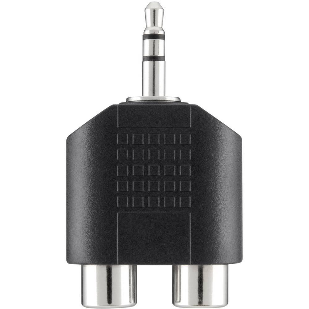 Belkin-JACK/činč audio Y-adapter [1x JACK vtič 3.5mm - 2x činč vtičnica], črn F3Y120bf