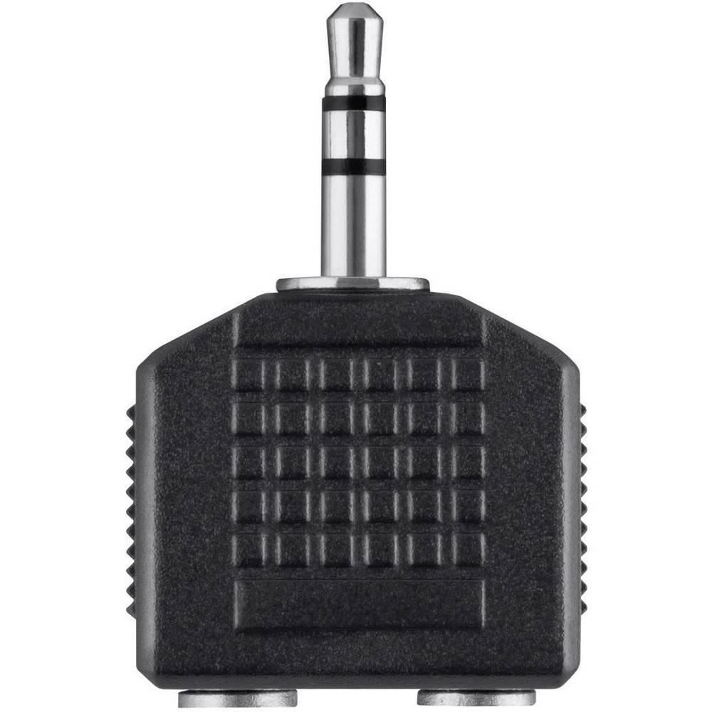 Belkin klinker avdio Y-adapter [1x 3,5 mm banana moški konektor - 2x priključna doza za 3,5 mm banana moški konektor] črna