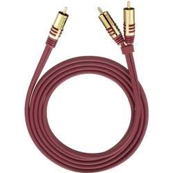 Priključni kabel Oehlbach, moški cinch konektor/2 x moški cinch konektor, rdeč, 1 m 20561