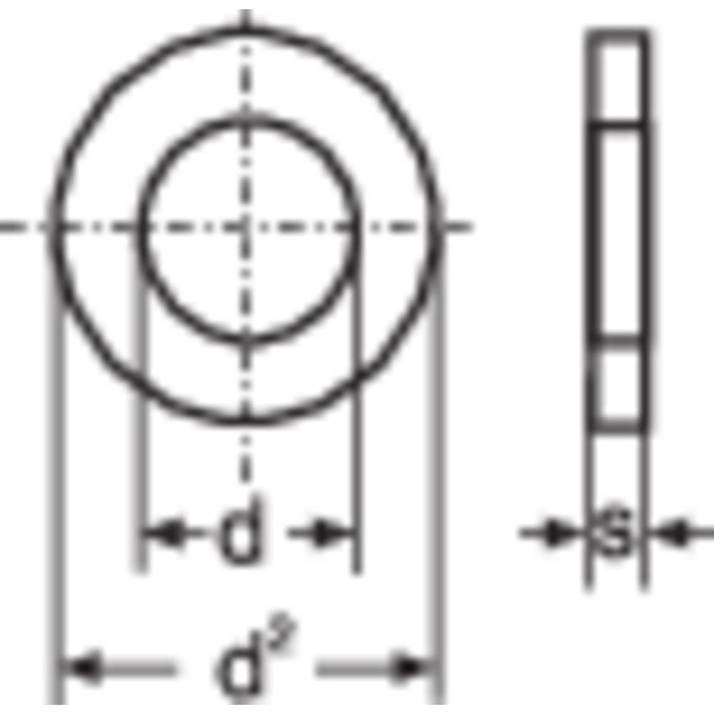 Brickor TOOLCRAFT 194697 2.7 mm DIN 125 Stål förzinkad 100 st