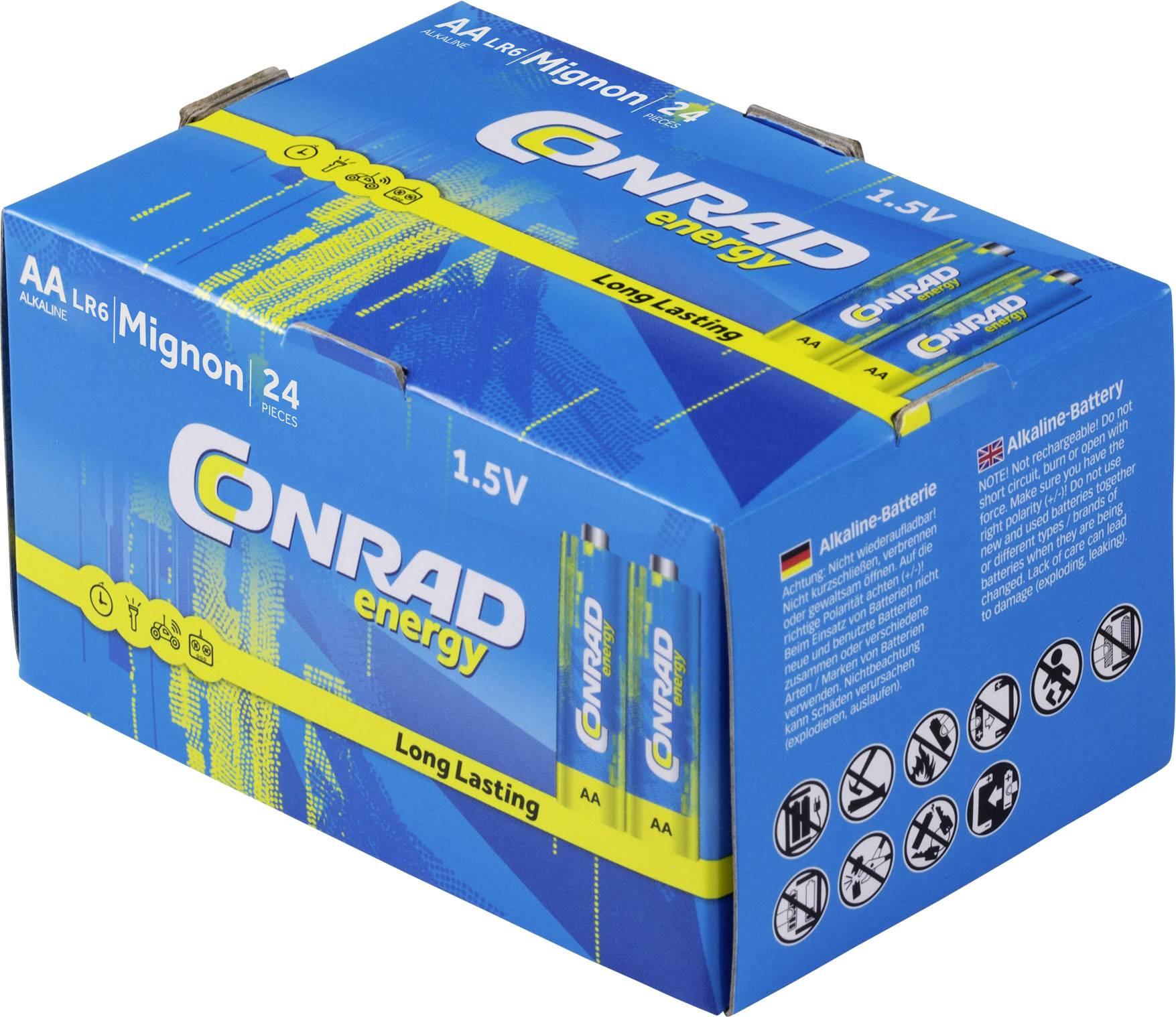 Conrad energy LR06 mignon (AA) baterija alkalno-manganov  1.5 V 24 St.