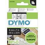 traka  DYMO d1 43613  Boja trake: bijela Boja slova:crna 6 mm 7 m