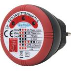 Testboy Schuki® 1A ispitivač utičnica  CAT II 300 V LED
