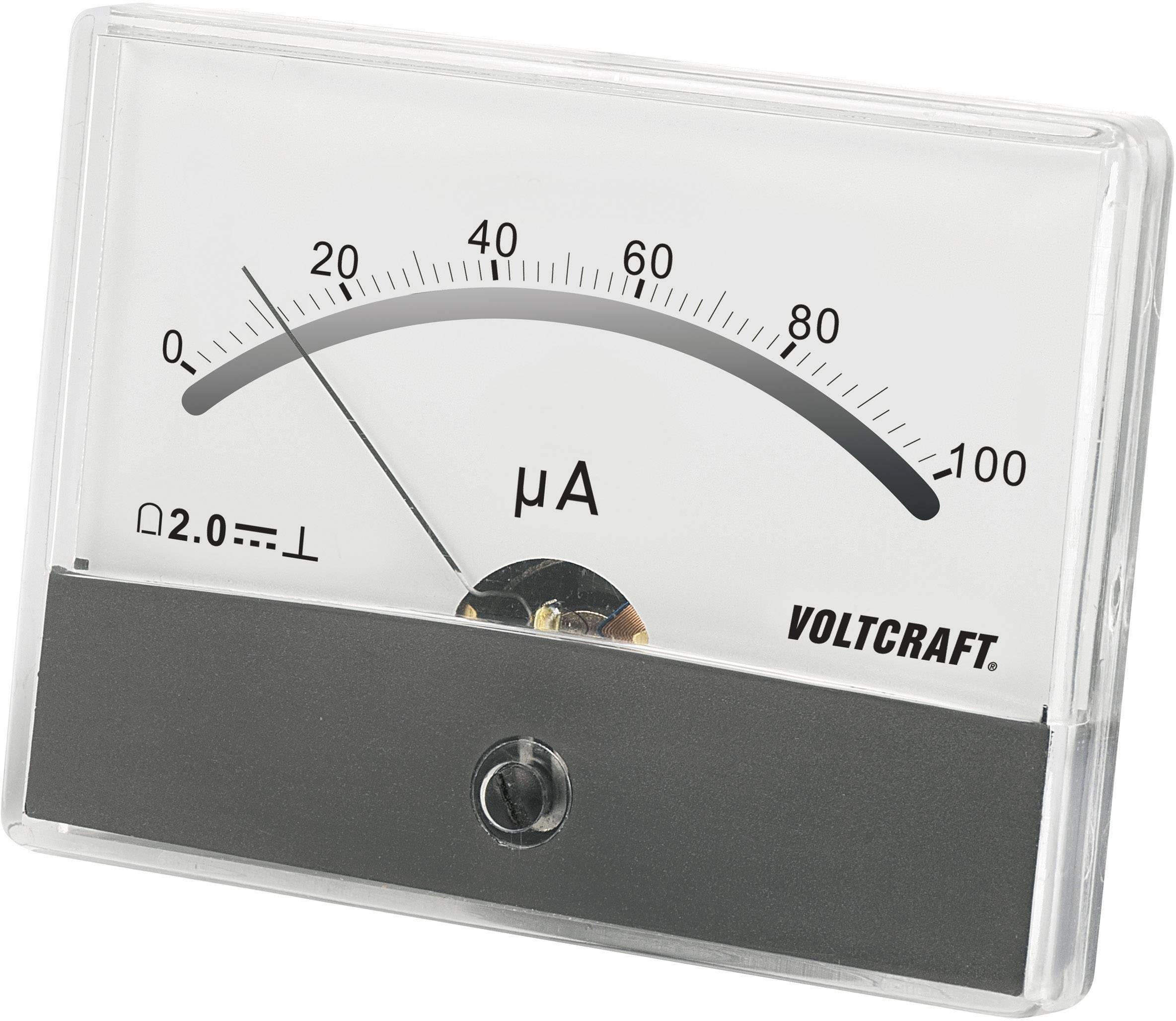 VOLTCRAFT AM-86X65/100µA Ugradbeni mjerni uređaj AM  100 µA pomični svitak