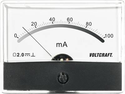 VOLTCRAFT AM-86X65/100MA Ugradbeni mjerni uređaj AM  100 mA pomični svitak