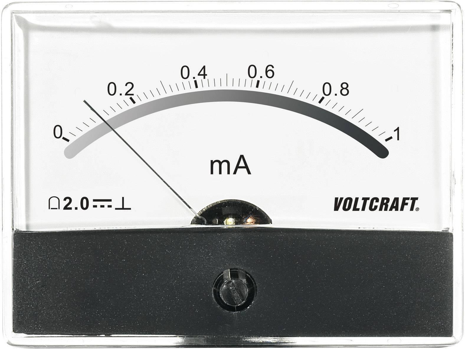 VOLTCRAFT AM-86X65/1MA Ugradbeni mjerni uređaj AM  1 mA pomični svitak