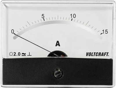 VOLTCRAFT AM-86X65/15A/DC Ugradbeni mjerni uređaj AM  15 A pomični svitak