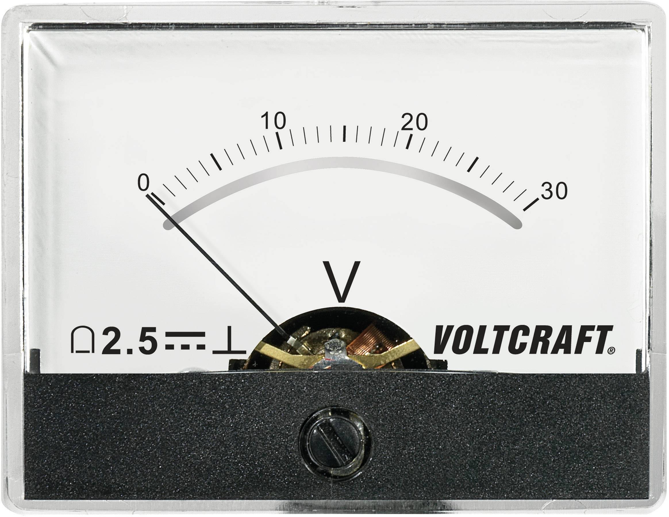 VOLTCRAFT AM-60X46/30V/DC Ugrađeni mjerni uređaj AM-60x46  30 V pomični svitak