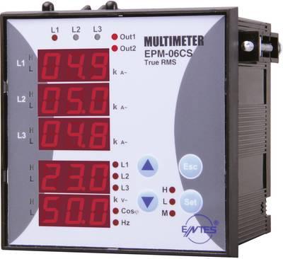 ENTES EPM-06CS-96  Programirajući trofazni izmjenični multimetar Napon, struja, frekvencija, sati rada, ukupni sati