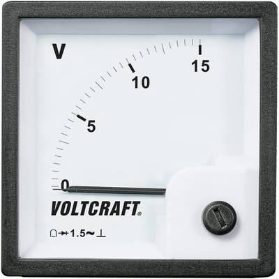 VOLTCRAFT AM-72x72/15V Analogni ugradbeni mjerni uređaj  15 V pomični svitak