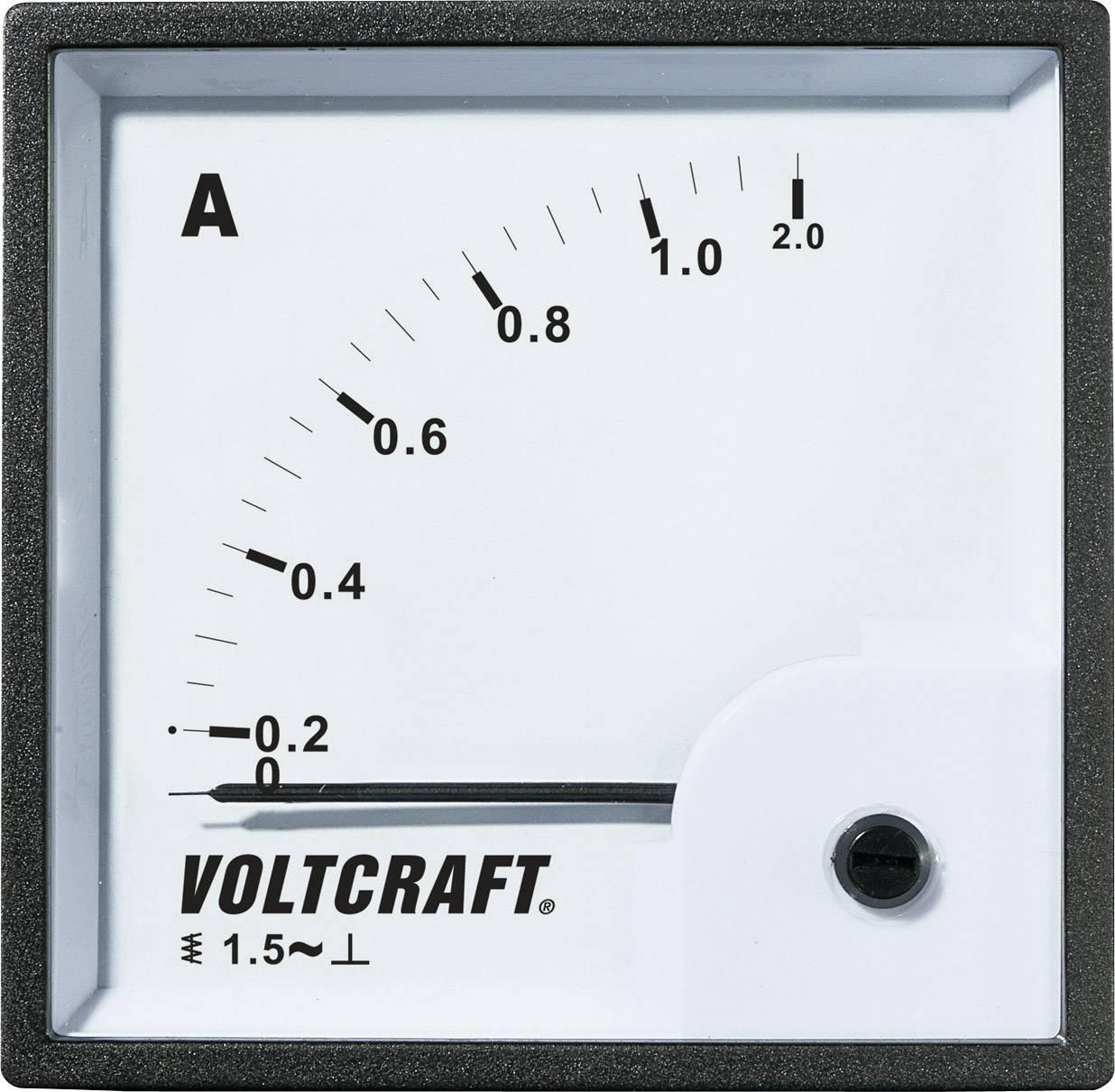 VOLTCRAFT AM-72X72/1A Analogni ugradbeni mjerni uređaj  1 A pomično željezo