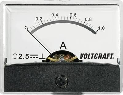 VOLTCRAFT AM-60X46/1A/DC Ugrađeni mjerni uređaj AM-60x46  1 A pomični svitak