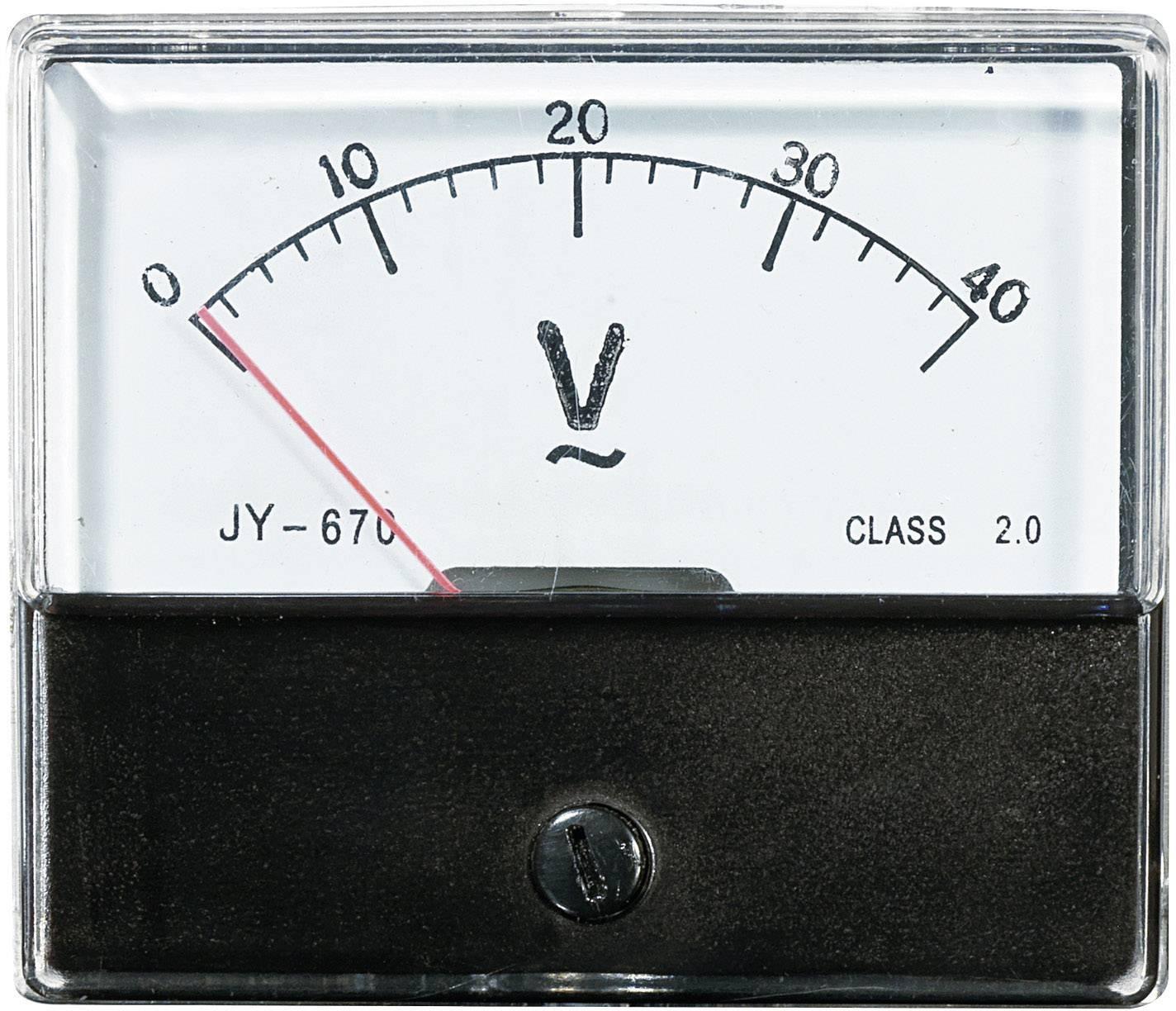 VOLTCRAFT AM-70X60/40V Ugradbeni mjerni uređaj AM  40 V pomični svitak