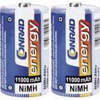 Conrad energy HR20 mono (l) akumulator NiMH 11000 mAh 1.2 V 2 St.