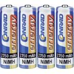 Conrad energy HR06 mignon (AA) akumulator NiMH 2750 mAh 1.2 V 4 St.
