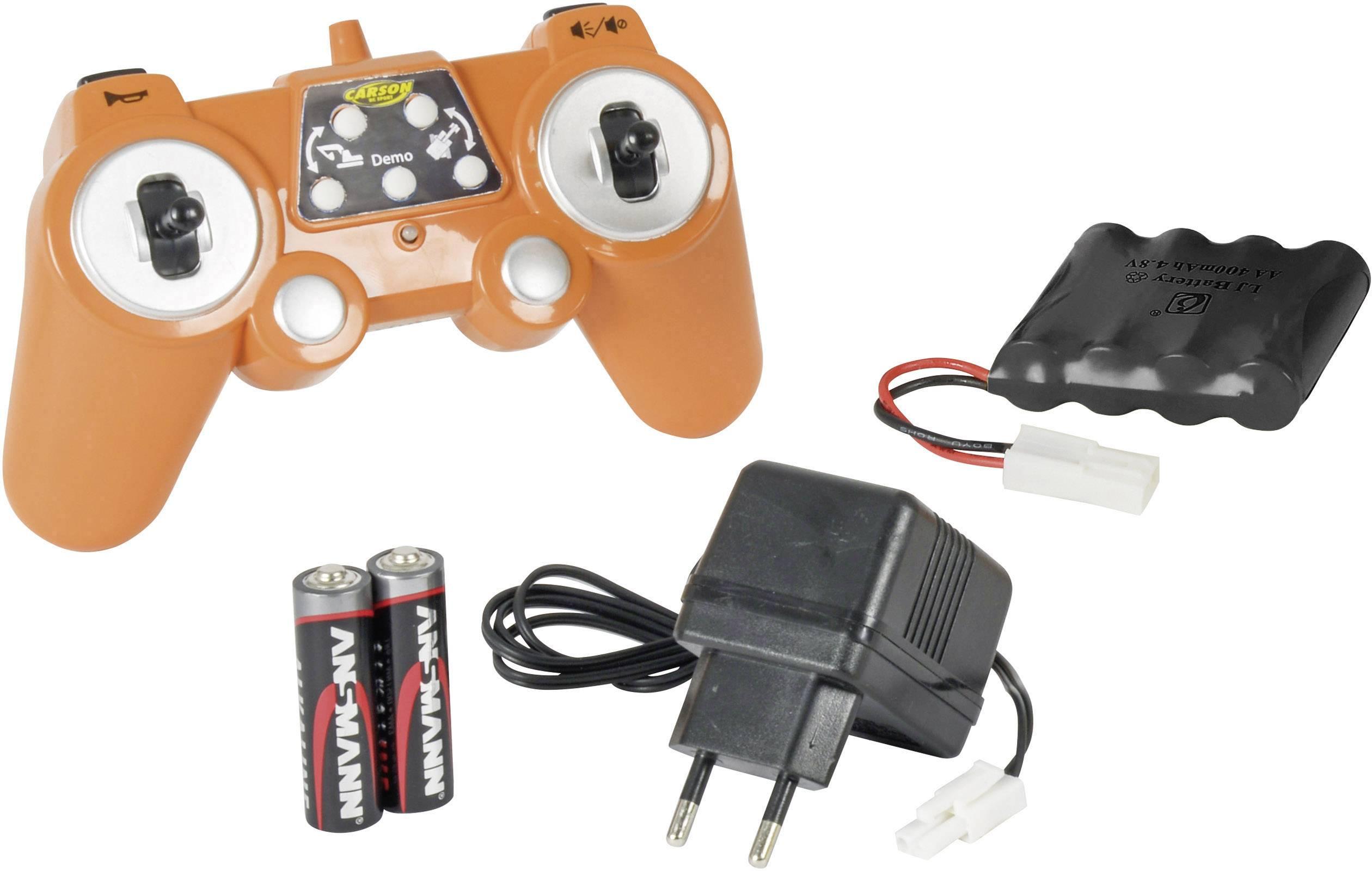 Carson RC Sport Gusjeničar 1:20 rc funkcijski model za početnike građevinsko vozilo uklj. baterija, punjač i odašiljačka