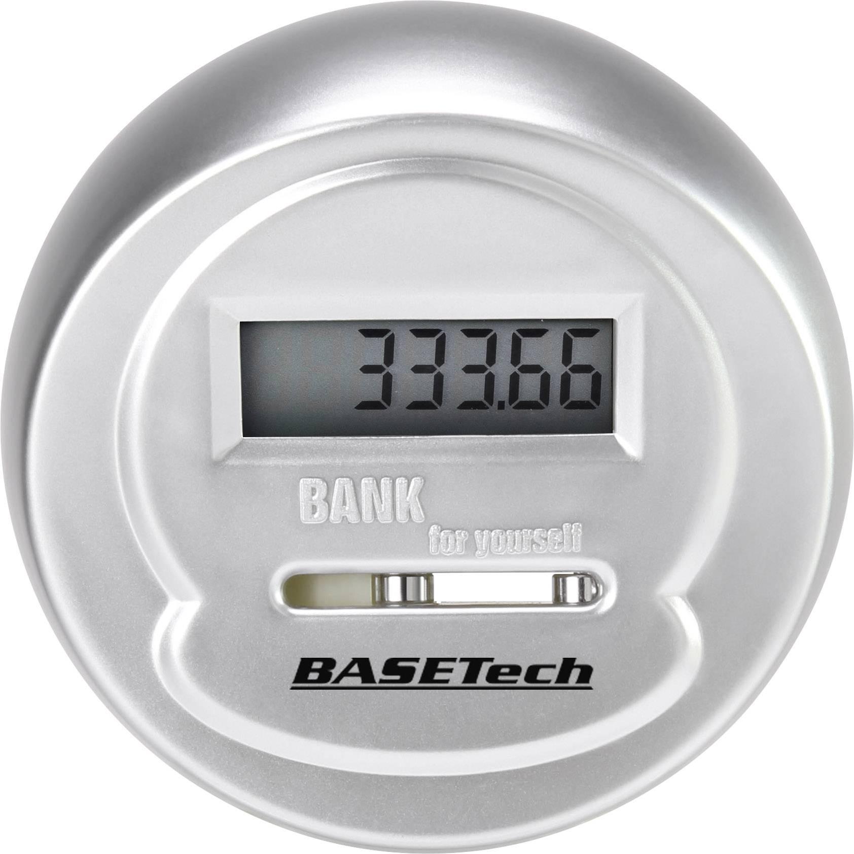 Basetech 1619410 kasa za štednju s digitalnim brojačem  Broj pretinaca za kovanice 1