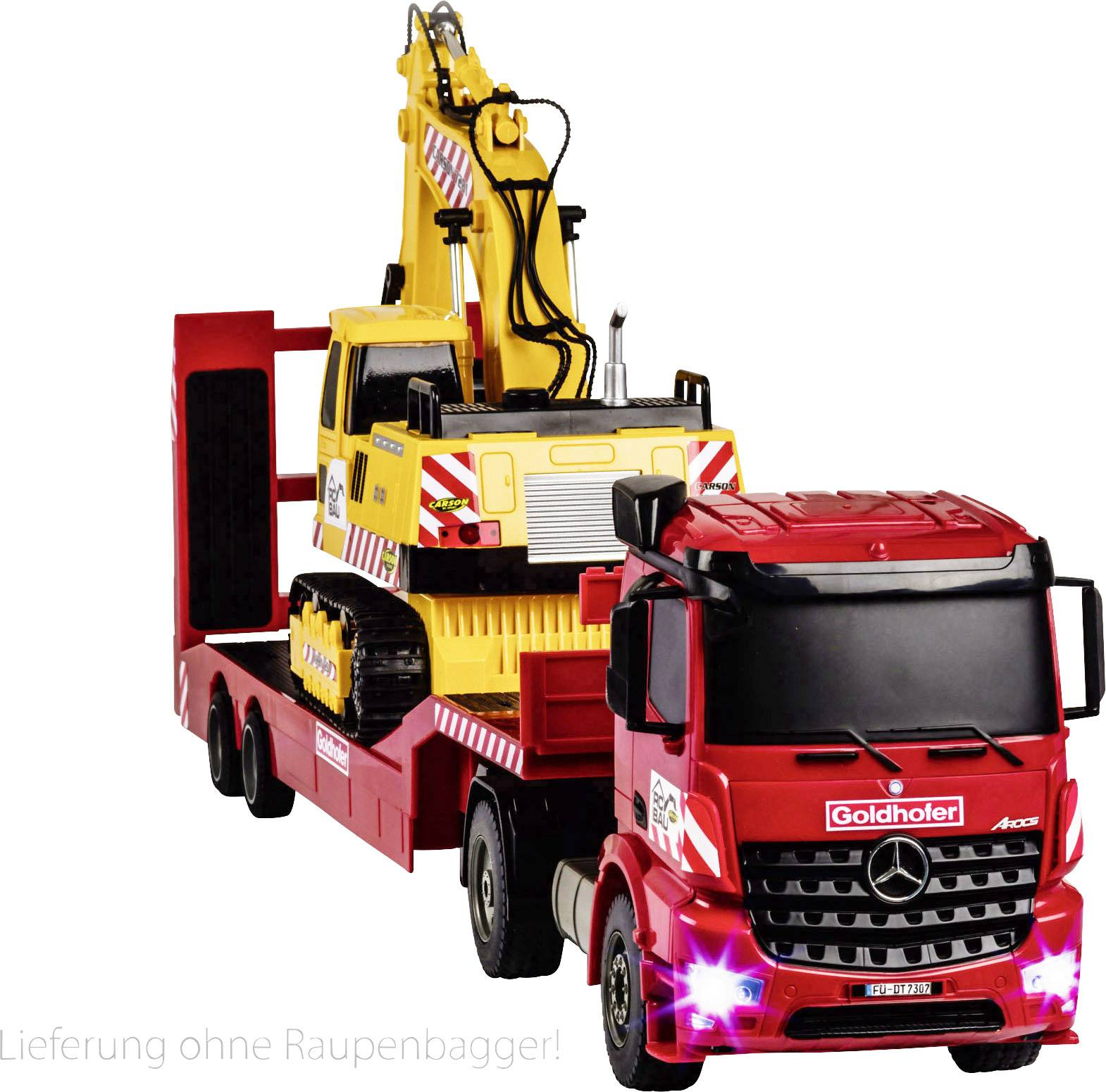 Carson RC Sport Arocs s Goldhofer niskim utovarivačem 1:20 rc funkcijski model za početnike kamion uklj. baterija, punja