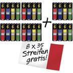 3M ljepljivi marker FT600002966 24 blokova/paket crvena, plava boja, žuta, zelena