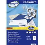 Europe 100 ELA022 etikete 105 x 57 mm papir bijela 1000 St. trajno univerzalne naljepnice tinta, laser, kopija 100 Blatt