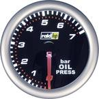 raid hp 660241 ugradbeni instrument za motorna vozila mjerač tlaka ulja Mjerno podučje 7 - 0 bar nightflight bijela, crv