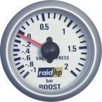raid hp 660218 ugradbeni instrument za motorna vozila turbo manometar Mjerno podučje -1 - 2 bar srebrna serija plavo-bij