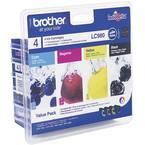 Brother tinta LC-980 original kombinirano pakiranje crn, cijan, purpurno crven, žut LC980VALBP