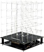 LED-es 3D-s fehér fénykocka építőkészlet 9V Velleman K8018W Velleman