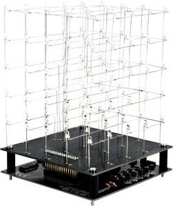 LED-es 3D-s fehér fénykocka építőkészlet 9V Velleman K8018W (K8018W) Velleman