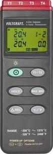 4 csatornás kézi hőmérő, K hőelemes hőmérő -200 - +1370 °C Voltcraft K204 VOLTCRAFT