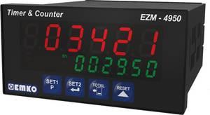 6 jegyű előre beállított számláló időzítővel, RS-485, 92 x 46 mm, Emko EZM-4950.1.00.2.0/01.01/0.0.0.0 Emko